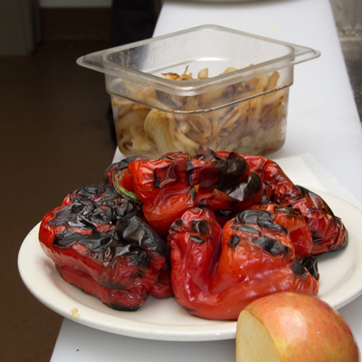 Charred Red Pepper
